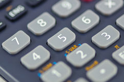 Close-up van calculatorknopen Stock Afbeelding