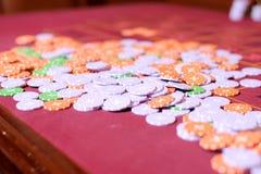 Close-up van Casinospaanders Stock Afbeelding
