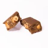 Close-up van chocolade Stock Afbeeldingen