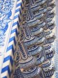 Close-up van de brugbalustrade, Plaza DE Espana, Sevilla royalty-vrije stock foto's