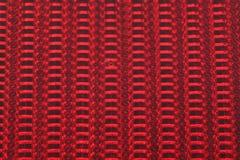 Close-up van de de rode kolommen en rijen van de fietsreflector Royalty-vrije Stock Foto's