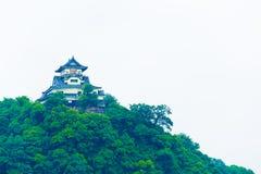 Close-up van de de Voorgevel de Donkere Hemel van het Inuyamakasteel Stock Foto's