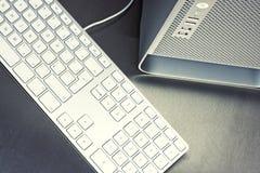 Close-up van de Desktop van PC stock fotografie