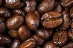 Close-up van de Geroosterde Bonen van de Koffie stock foto's