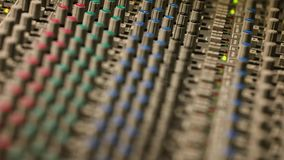 Close-up van de het Mengen zich console stock videobeelden