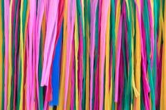 Close-up van de kleurrijke stof in de traditionele Thaise stijl stock foto