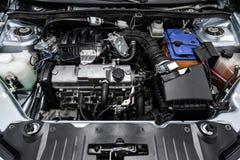 Close-up van de motor stock foto's