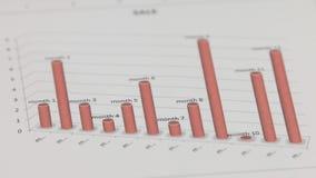 Close-up van de omwenteling van een rode grafiek stock video