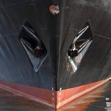 Close-up van de schil van een schip stock foto's