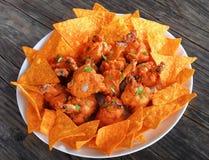 Close-up van de smakelijke lollys van de kippenvleugel Stock Fotografie
