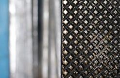 Close-up van de textuur van het metaalpatroon royalty-vrije stock fotografie