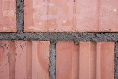 Close-up van de textuurachtergrond die van het bakstenen muurpatroon wordt geschoten stock fotografie