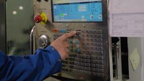 Close-up van de verre machine met numerieke controle