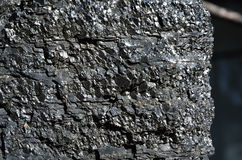 Close-up van de vette kolen uit één stuk Royalty-vrije Stock Afbeeldingen