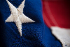 Close-up van de Vlag van Verenigde Staten Royalty-vrije Stock Foto