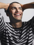 Close-up van de Vrolijke Jonge Mens stock fotografie