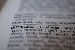 Close-up van de woordimpuls royalty-vrije stock afbeeldingen