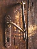Close-up van deurhandvat en slot royalty-vrije stock afbeelding