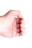 Close-up van Eczemadermatitis op Achtervingers Stock Afbeelding