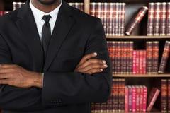 Close-up van een Advocaat In Office Stock Afbeelding