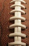 Close-up van een Amerikaanse Voetbal royalty-vrije stock foto's