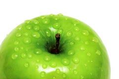 Close-up van een appel en een water Stock Foto