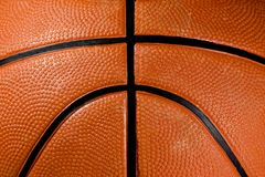 Close-up van een basketbal Stock Fotografie
