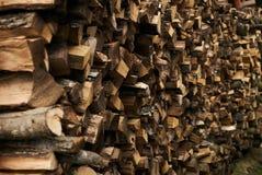 Close-up van een brandhoutstapel royalty-vrije stock fotografie