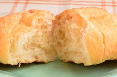 Close-up van een croissant Royalty-vrije Stock Fotografie