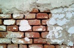 Close-up van een deel van een bakstenen muur royalty-vrije stock foto's