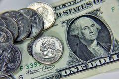 Close-up van een dollardeel Het concept close-up Stock Afbeelding