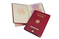 Close-up van een Duits Paspoort Royalty-vrije Stock Afbeelding