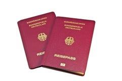 Close-up van een Duits Paspoort Royalty-vrije Stock Foto