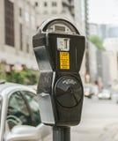 Close-up van een generische Amerikaanse parkeermeter royalty-vrije stock foto's
