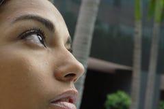 Close-up van een Gezicht Stock Fotografie