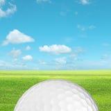 Close-up van een golfbal Stock Afbeelding