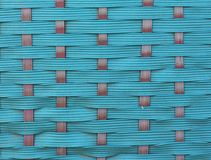 Close-up van een groene het winkelen mand met het ingewikkelde weven Royalty-vrije Stock Afbeelding