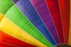 Close-up van een hete luchtballon Royalty-vrije Stock Foto
