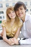 Close-up van een jong paar in liefde royalty-vrije stock fotografie