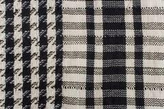 Close-up van een keffiyehpatroon royalty-vrije stock afbeeldingen
