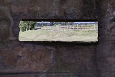 Close-up van een kijkglas in de geulen van Stock Foto's
