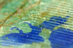 Close-up van een kleurrijke besnoeiingsrots Stock Foto