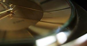 Close-up van een klok stock footage