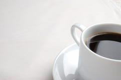 Close-up van een kop van koffie Stock Foto's