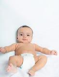 Close-up van een leuke Indische babyjongen. Stock Foto's