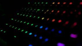 Close-up van een mechanisch RGB gokken backlit toetsenbord stock foto