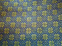 Close-up van een met de hand gemaakte wolsweater met Ijslandse traditionele ty Royalty-vrije Stock Foto's