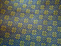 Close-up van een met de hand gemaakte wolsweater met Ijslandse traditionele ty Royalty-vrije Stock Foto