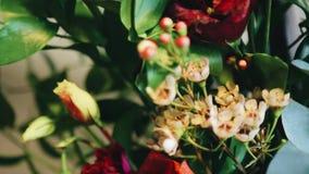 Close-up van een mooi boeket Prachtig decor stock footage