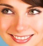 Close-up van een mooi gezicht Royalty-vrije Stock Afbeeldingen
